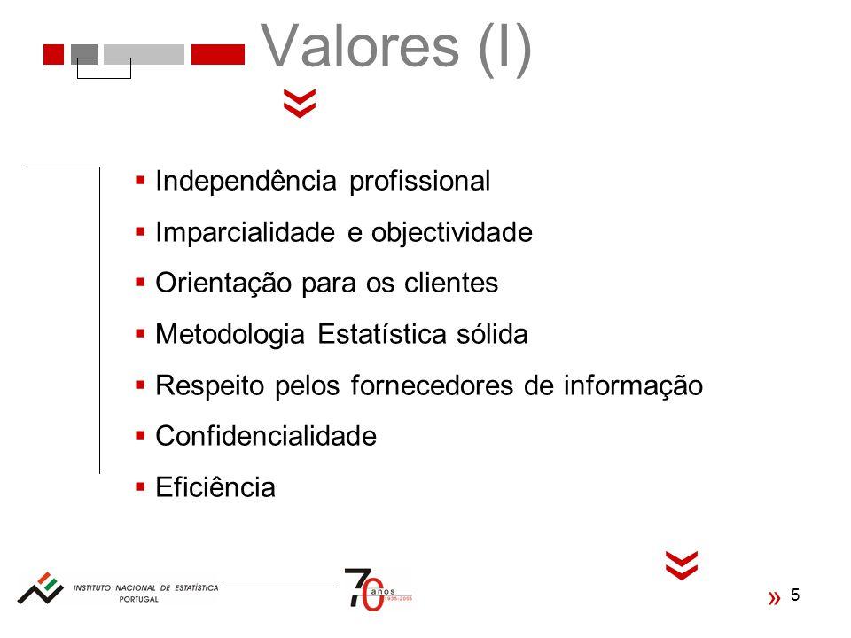 « « Valores (I) Independência profissional