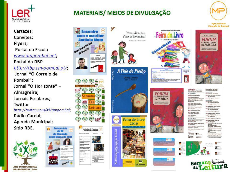 MATERIAIS/ MEIOS DE DIVULGAÇÃO