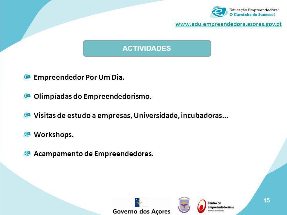 Empreendedor Por Um Dia. Olimpíadas do Empreendedorismo.