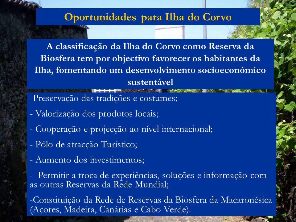 Oportunidades para Ilha do Corvo