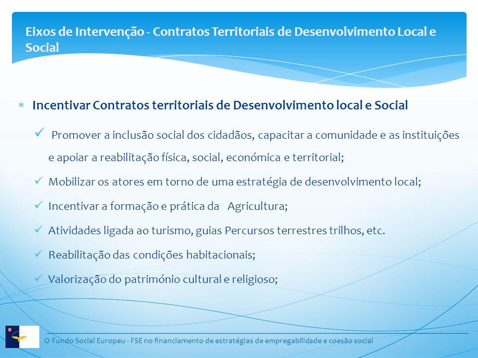 Eixos de Intervenção - Contratos Territoriais de Desenvolvimento Local e Social