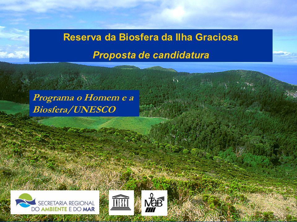 Reserva da Biosfera da Ilha Graciosa Proposta de candidatura