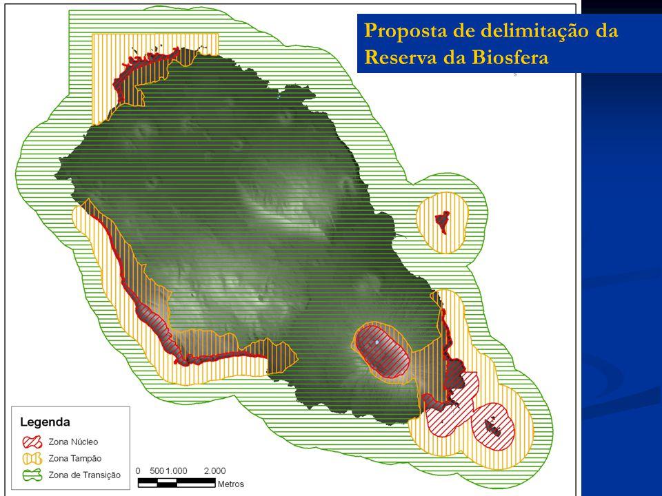 Proposta de delimitação da Reserva da Biosfera
