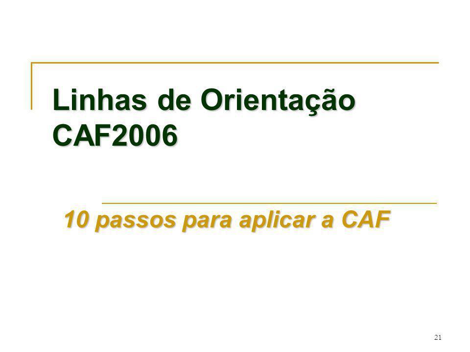 Linhas de Orientação CAF2006