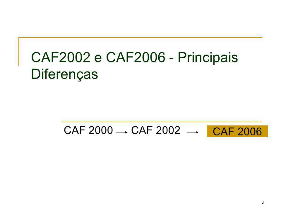 CAF2002 e CAF2006 - Principais Diferenças