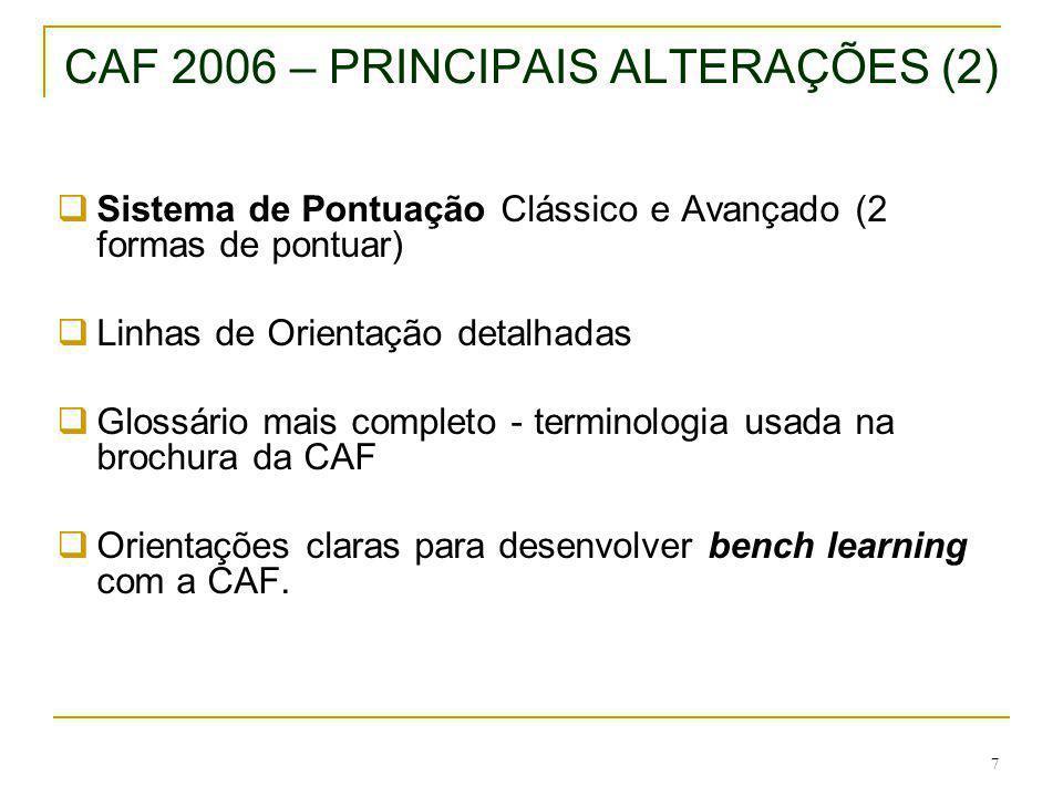 CAF 2006 – PRINCIPAIS ALTERAÇÕES (2)