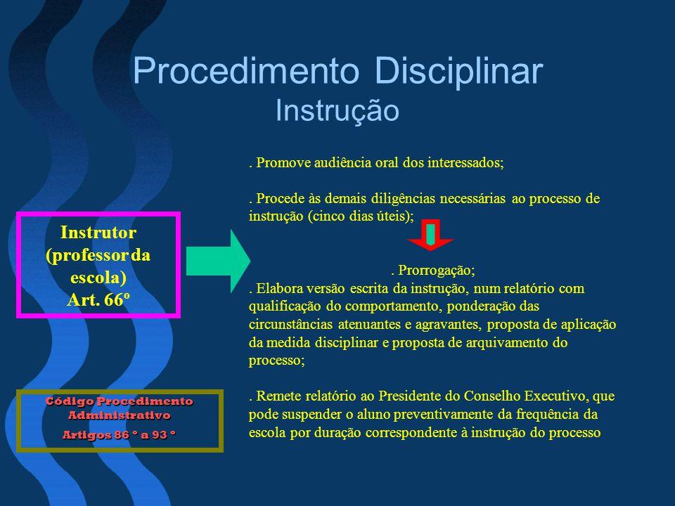 Procedimento Disciplinar Instrução