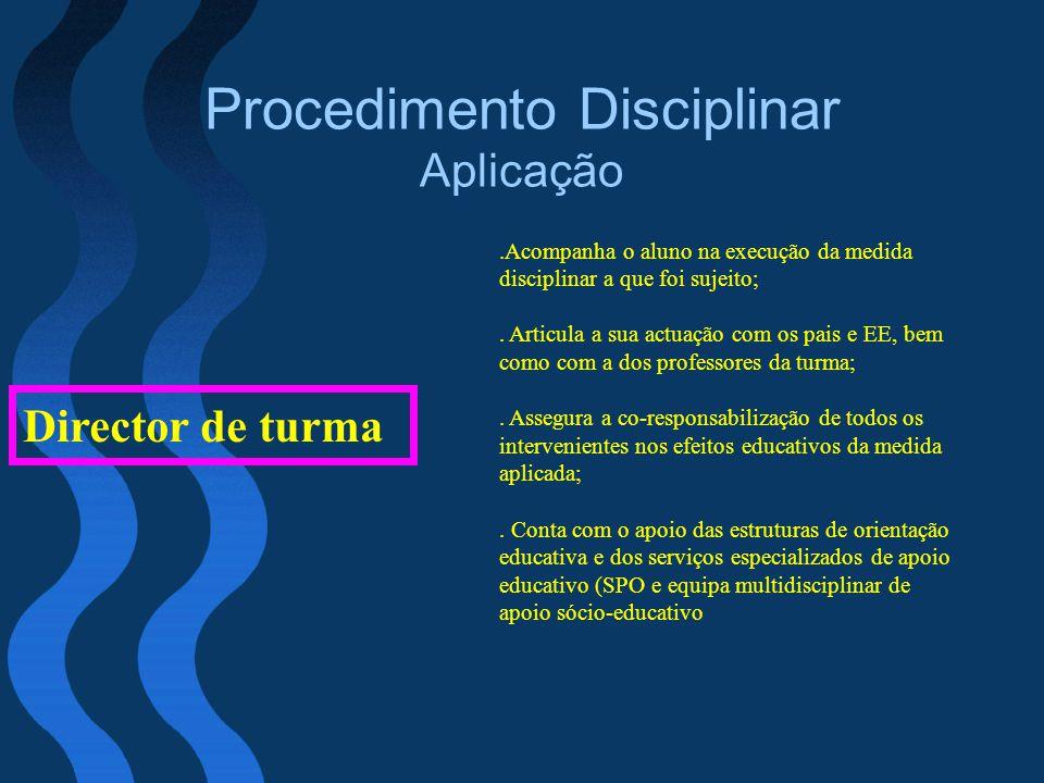 Procedimento Disciplinar Aplicação