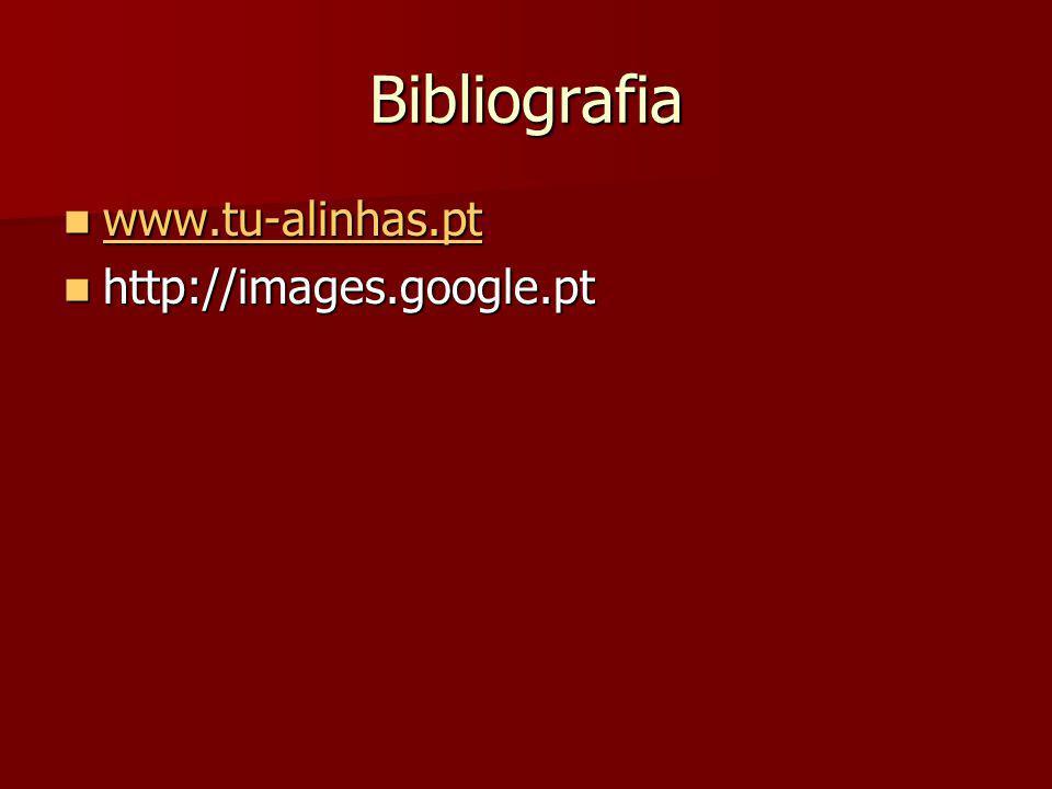 Bibliografia www.tu-alinhas.pt http://images.google.pt