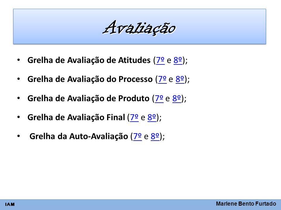Avaliação Grelha de Avaliação de Atitudes (7º e 8º);