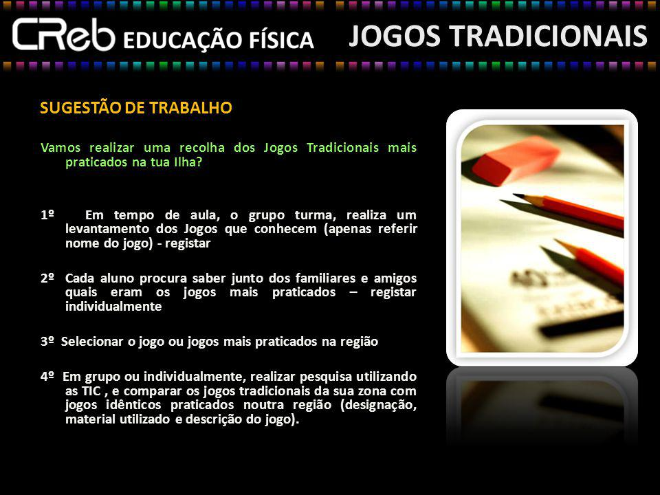 JOGOS TRADICIONAIS SUGESTÃO DE TRABALHO