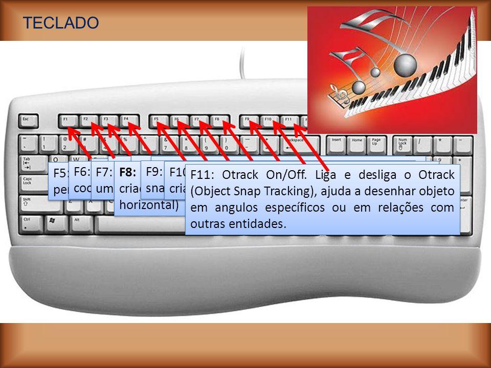 TECLADO F1: Help. Ativa o comandode ajuda do AutoCad