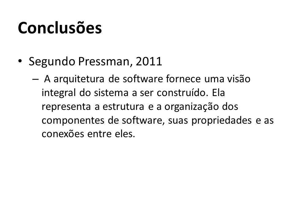 Conclusões Segundo Pressman, 2011