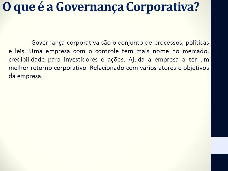 O que é a Governança Corporativa