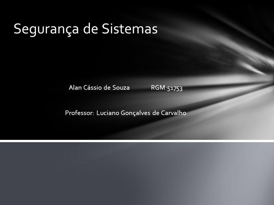 Segurança de Sistemas Alan Cássio de Souza RGM:51753