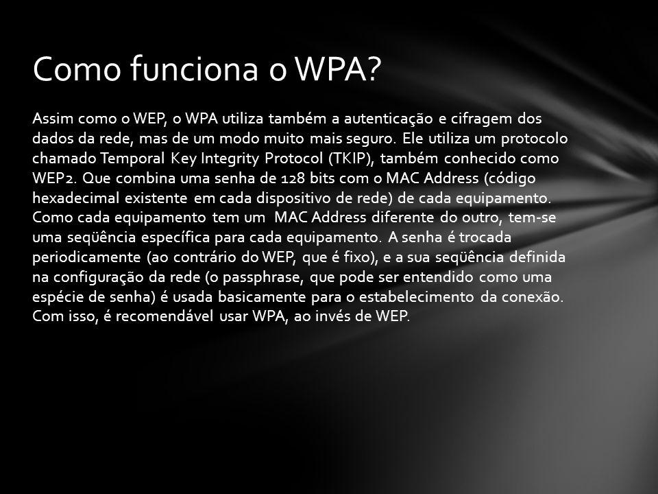 Como funciona o WPA