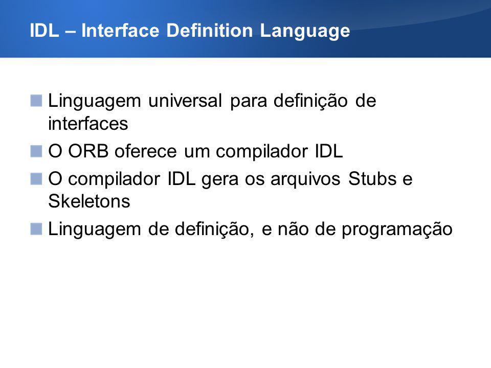 IDL – Interface Definition Language