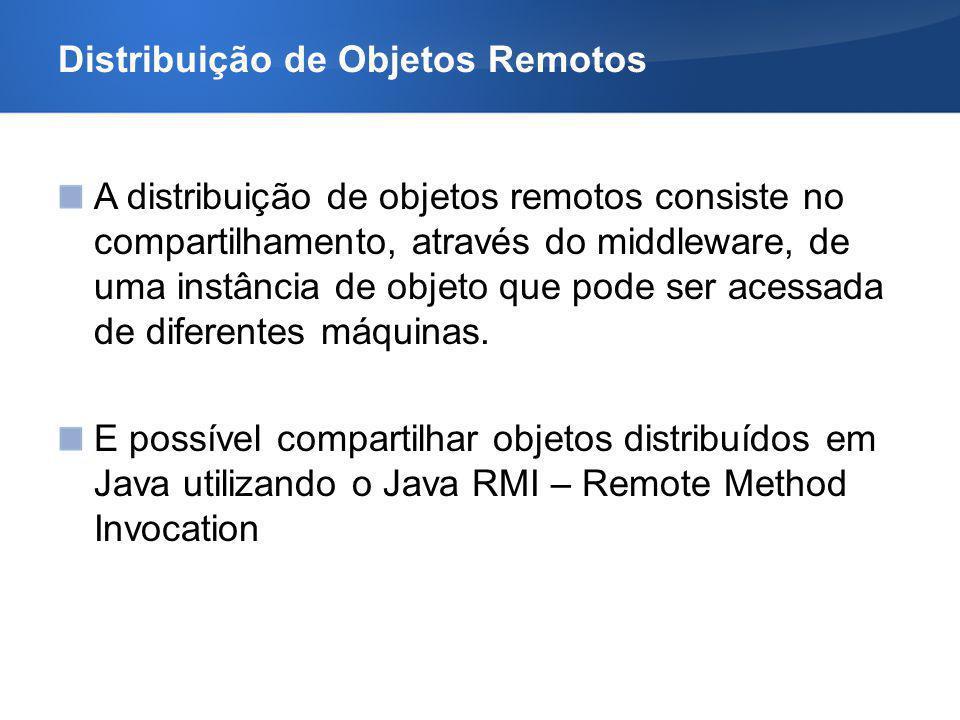 Distribuição de Objetos Remotos