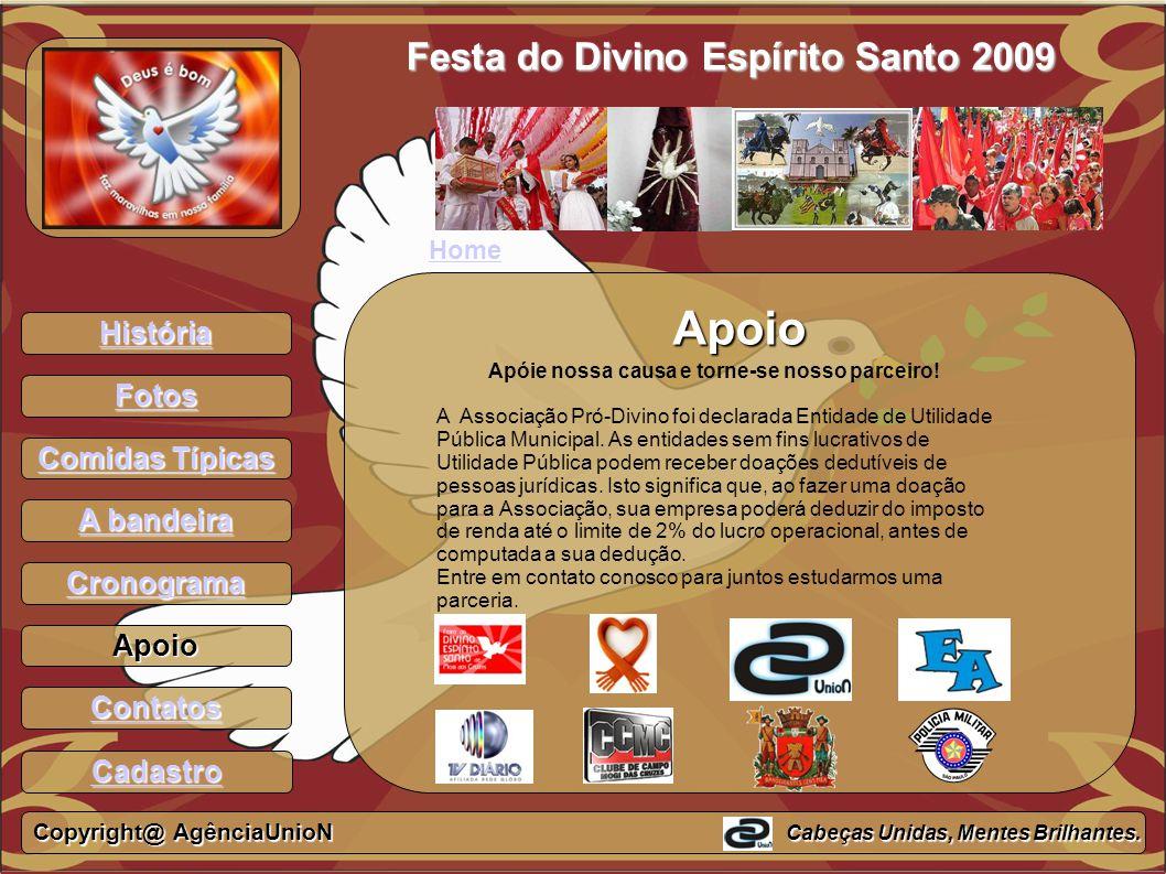 Apoio Festa do Divino Espírito Santo 2009 História Fotos