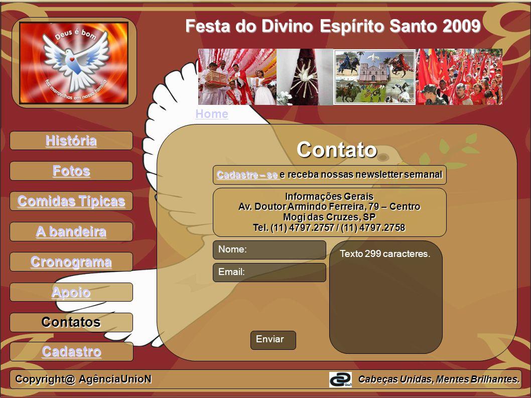 Contato Festa do Divino Espírito Santo 2009 História Fotos