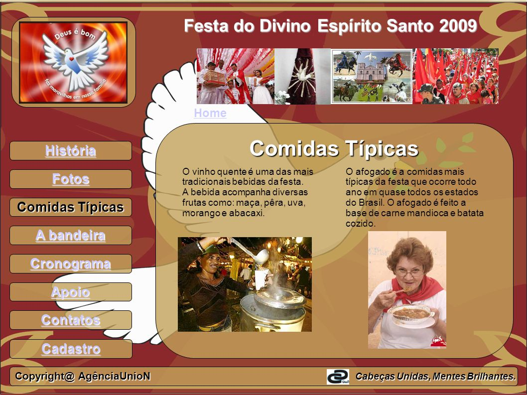 Comidas Típicas Festa do Divino Espírito Santo 2009 História Fotos