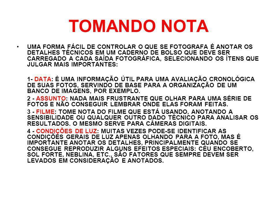 TOMANDO NOTA