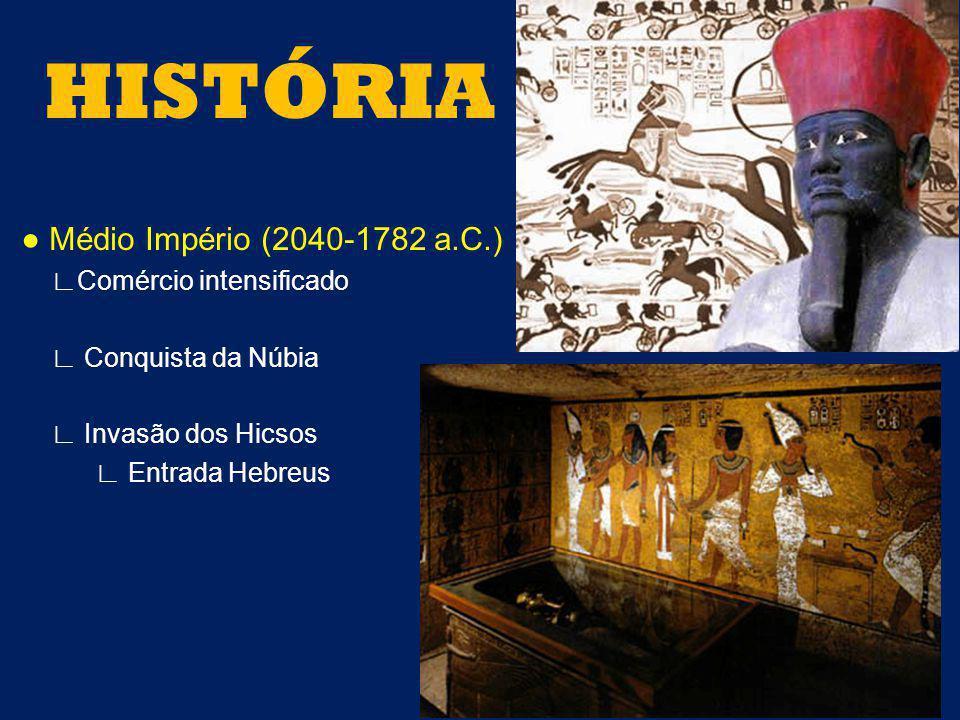 HISTÓRIA ● Médio Império (2040-1782 a.C.) ∟Comércio intensificado