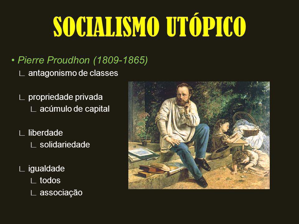 SOCIALISMO UTÓPICO • Pierre Proudhon (1809-1865)