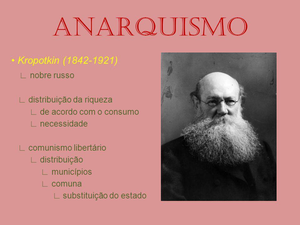 ANARQUISMO • Kropotkin (1842-1921) ∟ nobre russo