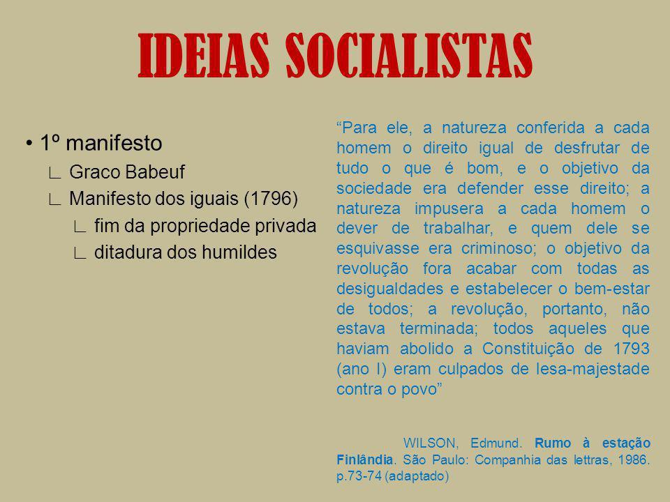 IDEIAS SOCIALISTAS • 1º manifesto ∟ Graco Babeuf