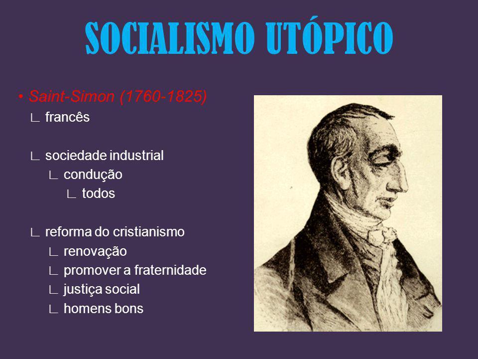 SOCIALISMO UTÓPICO • Saint-Simon (1760-1825) ∟ francês