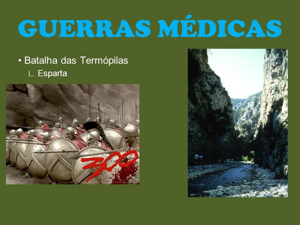 GUERRAS MÉDICAS • Batalha das Termópilas ∟ Esparta
