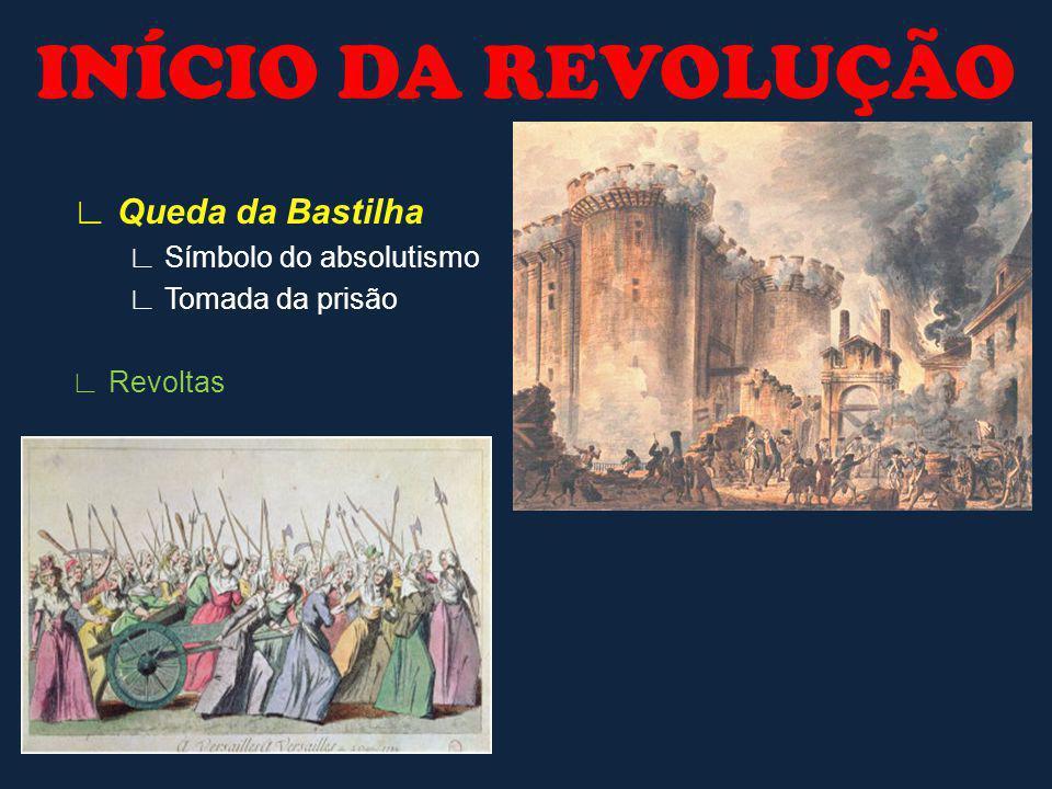INÍCIO DA REVOLUÇÃO ∟ Queda da Bastilha ∟ Símbolo do absolutismo