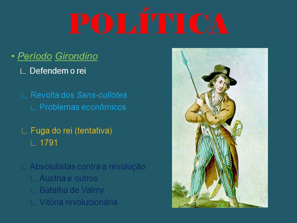 POLÍTICA • Período Girondino ∟ Defendem o rei