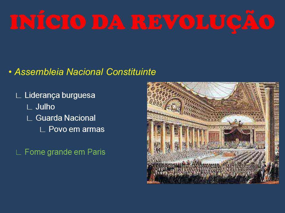 INÍCIO DA REVOLUÇÃO • Assembleia Nacional Constituinte