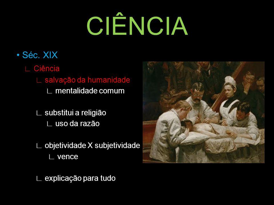 CIÊNCIA • Séc. XIX ∟ Ciência ∟ salvação da humanidade