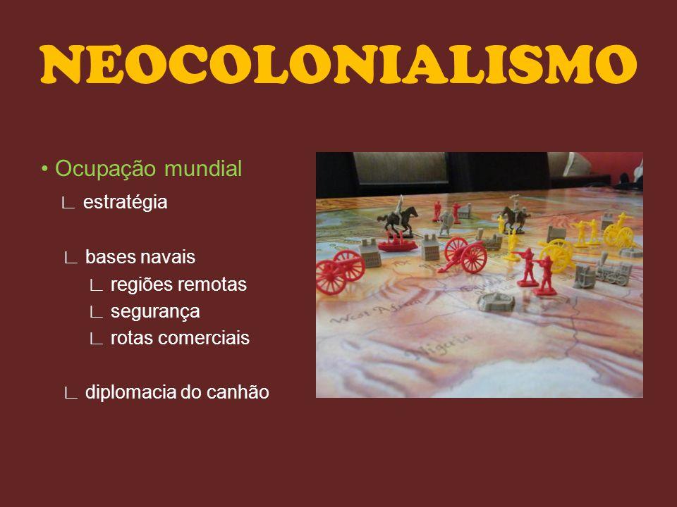 NEOCOLONIALISMO • Ocupação mundial ∟ estratégia ∟ bases navais