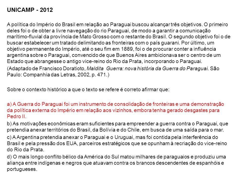 UNICAMP - 2012