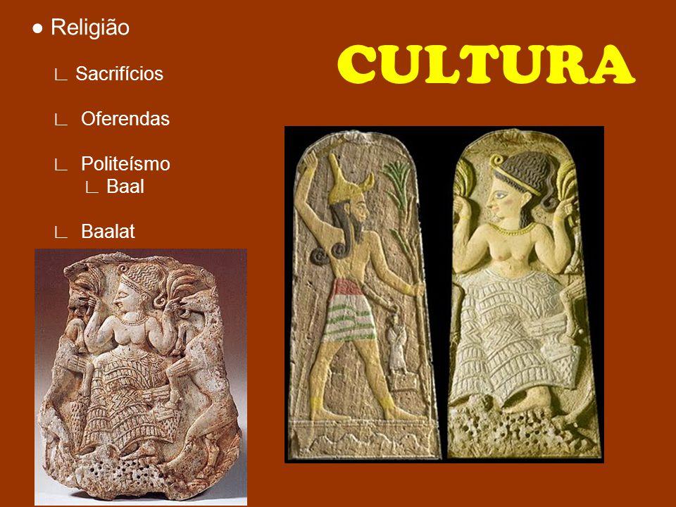 CULTURA ● Religião ∟ Sacrifícios ∟ Oferendas ∟ Politeísmo ∟ Baal
