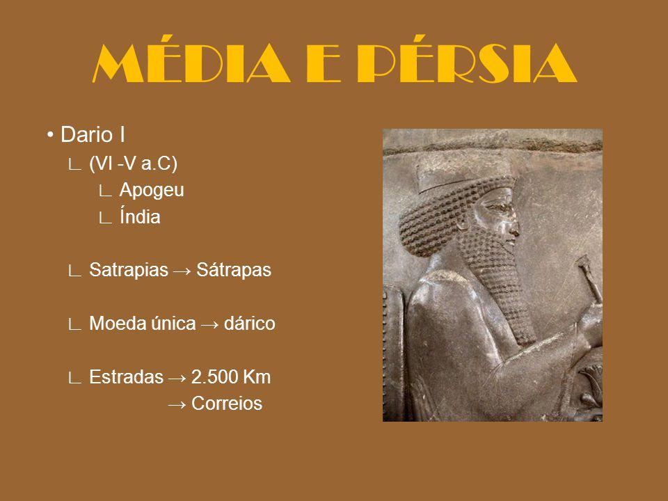 MÉDIA E PÉRSIA • Dario I ∟ (VI -V a.C) ∟ Apogeu ∟ Índia
