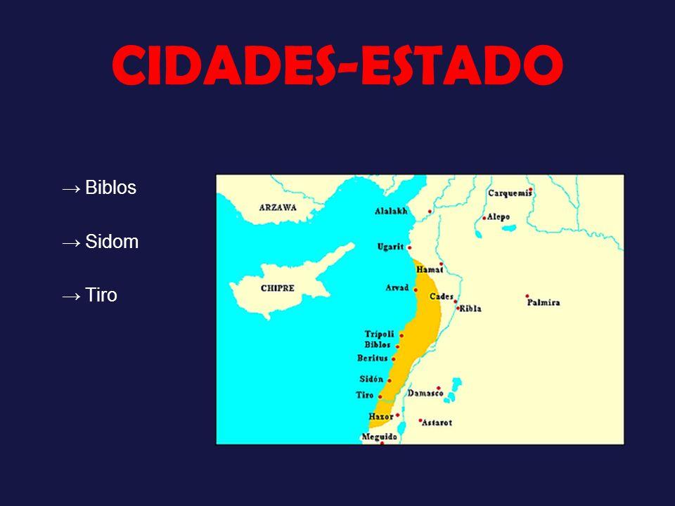 CIDADES-ESTADO → Biblos → Sidom → Tiro