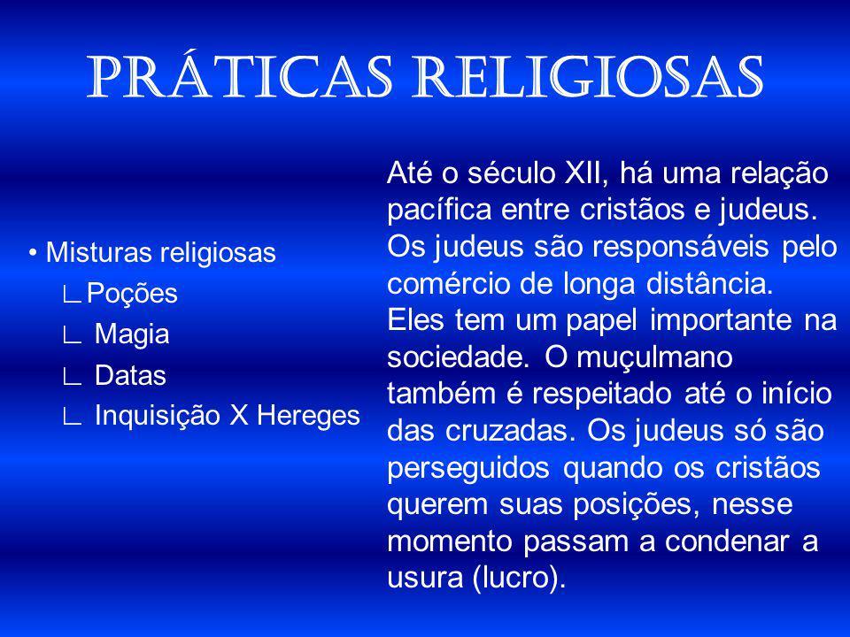 PRÁTICAS RELIGIOSAS • Misturas religiosas ∟Poções ∟ Magia ∟ Datas ∟ Inquisição X Hereges