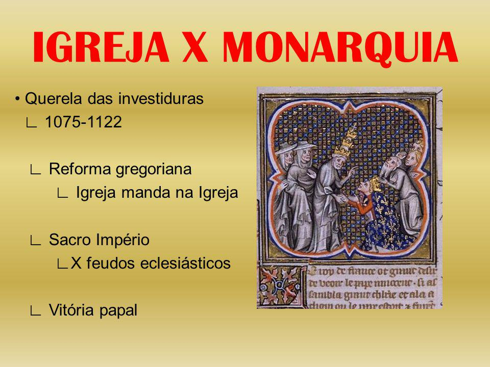 IGREJA X MONARQUIA