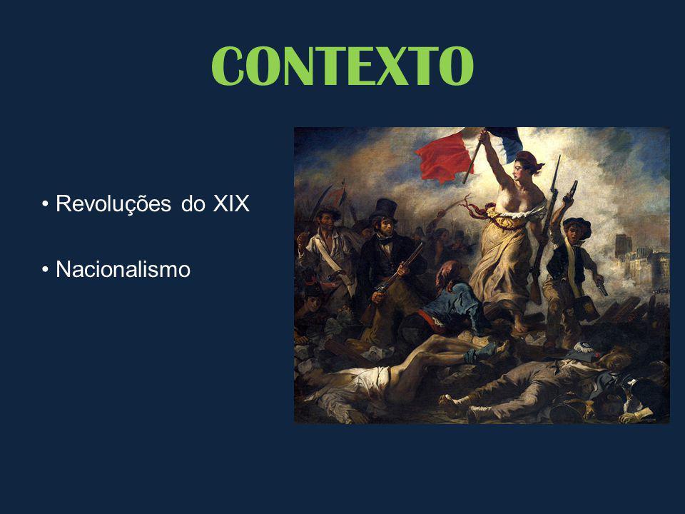 CONTEXTO • Revoluções do XIX • Nacionalismo