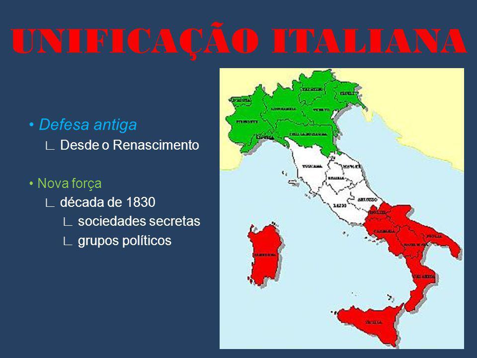 UNIFICAÇÃO ITALIANA • Defesa antiga ∟ Desde o Renascimento