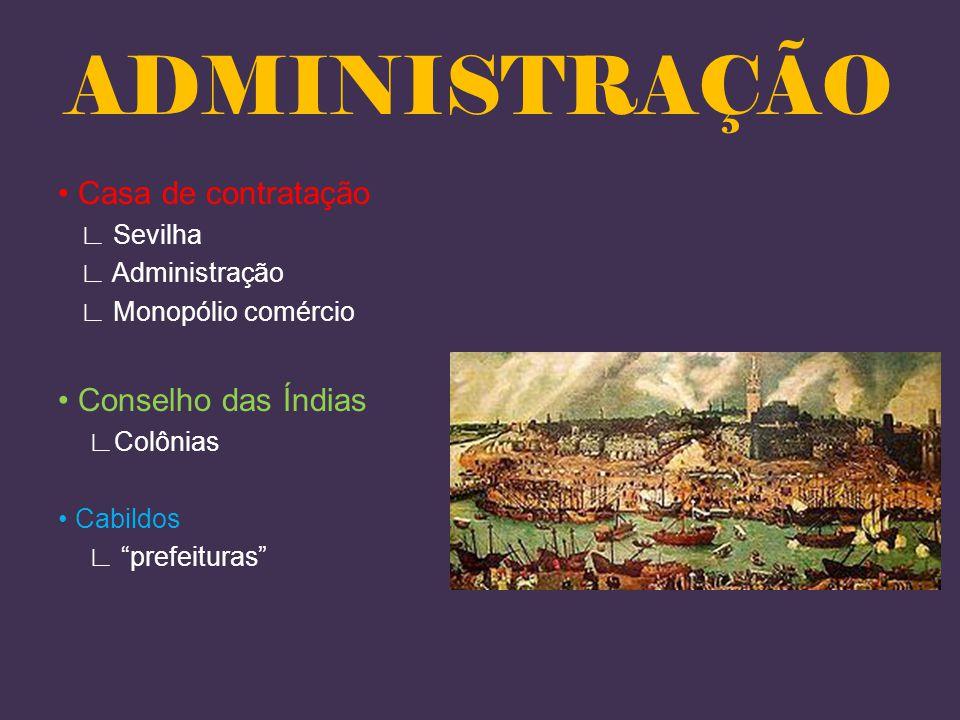 ADMINISTRAÇÃO • Casa de contratação • Conselho das Índias ∟ Sevilha