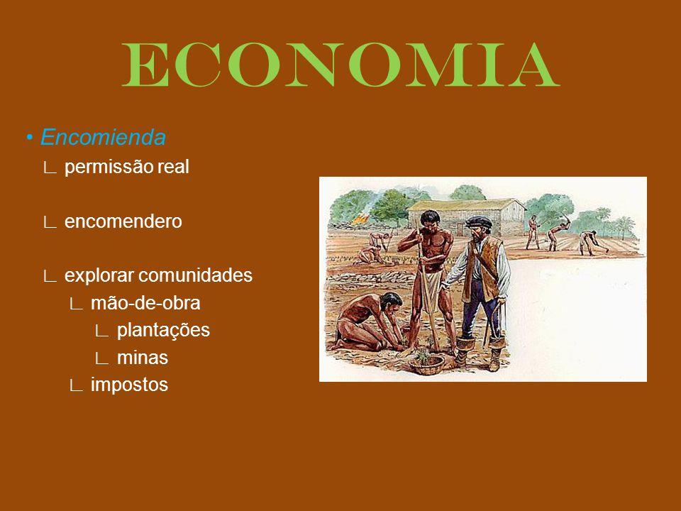 ECONOMIA • Encomienda ∟ permissão real ∟ encomendero