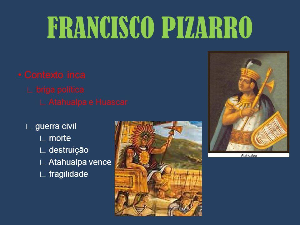 FRANCISCO PIZARRO • Contexto inca ∟ briga política