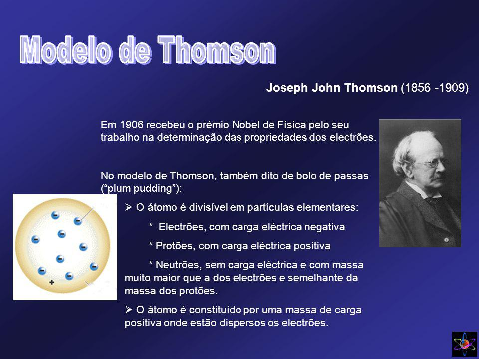 Joseph John Thomson (1856 -1909)