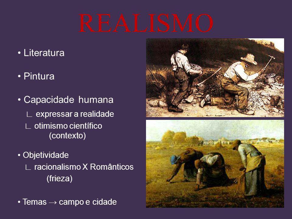 REALISMO • Literatura • Pintura • Capacidade humana